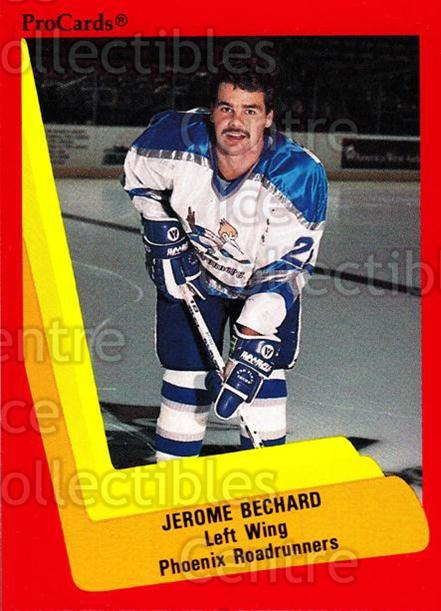 1990-91 ProCards AHL IHL #356 Jerome Bechard<br/>5 In Stock - $2.00 each - <a href=https://centericecollectibles.foxycart.com/cart?name=1990-91%20ProCards%20AHL%20IHL%20%23356%20Jerome%20Bechard...&quantity_max=5&price=$2.00&code=170638 class=foxycart> Buy it now! </a>