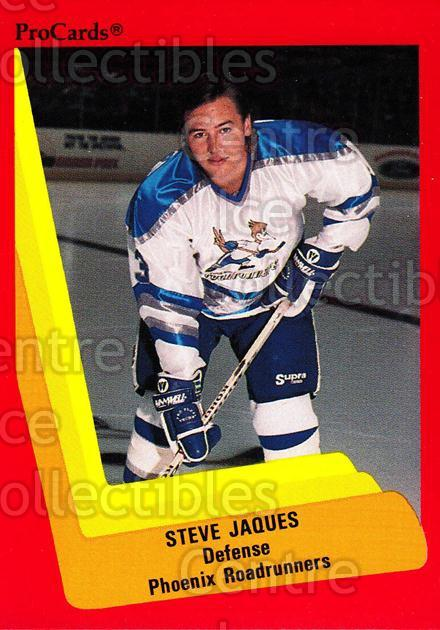 1990-91 ProCards AHL IHL #358 Steve Jacques<br/>5 In Stock - $2.00 each - <a href=https://centericecollectibles.foxycart.com/cart?name=1990-91%20ProCards%20AHL%20IHL%20%23358%20Steve%20Jacques...&quantity_max=5&price=$2.00&code=170640 class=foxycart> Buy it now! </a>