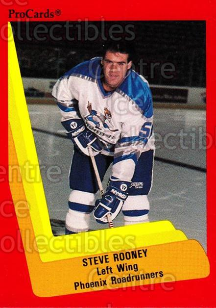 1990-91 ProCards AHL IHL #364 Steve Rooney<br/>4 In Stock - $2.00 each - <a href=https://centericecollectibles.foxycart.com/cart?name=1990-91%20ProCards%20AHL%20IHL%20%23364%20Steve%20Rooney...&quantity_max=4&price=$2.00&code=170647 class=foxycart> Buy it now! </a>