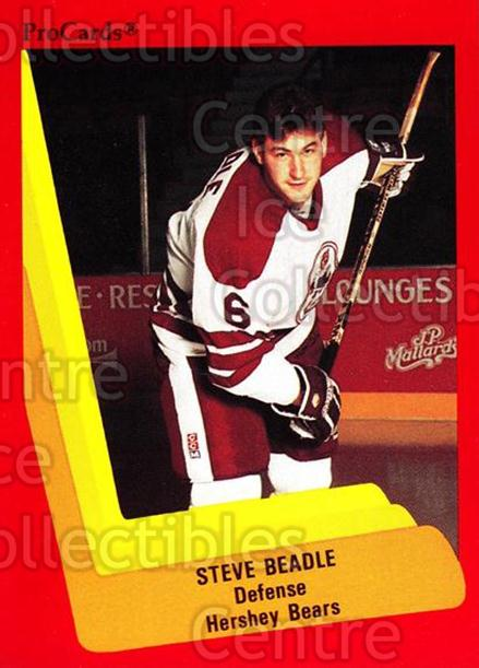 1990-91 ProCards AHL IHL #37 Steve Beadle<br/>23 In Stock - $2.00 each - <a href=https://centericecollectibles.foxycart.com/cart?name=1990-91%20ProCards%20AHL%20IHL%20%2337%20Steve%20Beadle...&quantity_max=23&price=$2.00&code=170653 class=foxycart> Buy it now! </a>