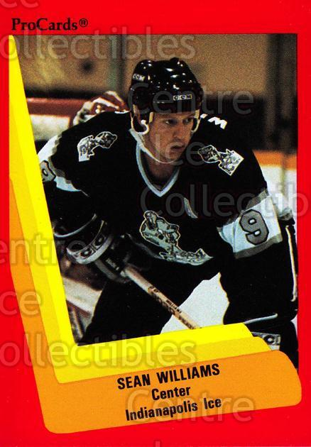 1990-91 ProCards AHL IHL #393 Sean Williams<br/>14 In Stock - $2.00 each - <a href=https://centericecollectibles.foxycart.com/cart?name=1990-91%20ProCards%20AHL%20IHL%20%23393%20Sean%20Williams...&quantity_max=14&price=$2.00&code=170678 class=foxycart> Buy it now! </a>