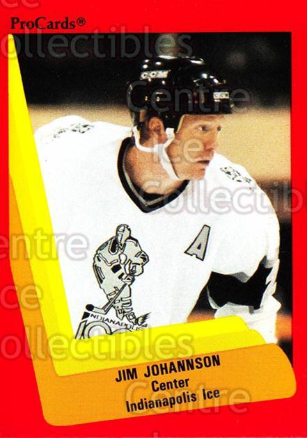 1990-91 ProCards AHL IHL #396 Jim Johannson<br/>9 In Stock - $2.00 each - <a href=https://centericecollectibles.foxycart.com/cart?name=1990-91%20ProCards%20AHL%20IHL%20%23396%20Jim%20Johannson...&quantity_max=9&price=$2.00&code=170681 class=foxycart> Buy it now! </a>