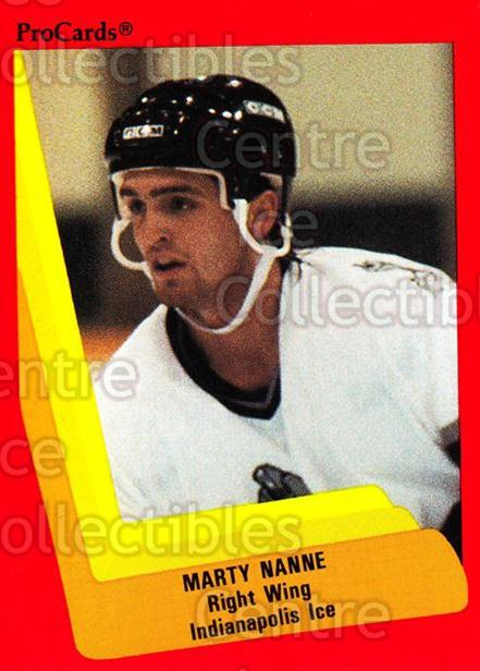 1990-91 ProCards AHL IHL #397 Marty Nanne<br/>15 In Stock - $2.00 each - <a href=https://centericecollectibles.foxycart.com/cart?name=1990-91%20ProCards%20AHL%20IHL%20%23397%20Marty%20Nanne...&quantity_max=15&price=$2.00&code=170682 class=foxycart> Buy it now! </a>
