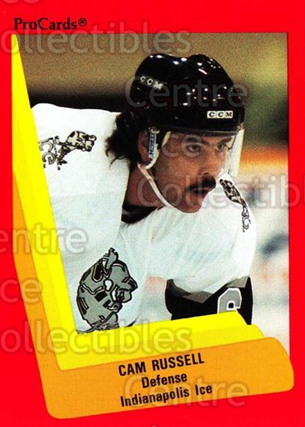 1990-91 ProCards AHL IHL #400 Cam Russell<br/>13 In Stock - $2.00 each - <a href=https://centericecollectibles.foxycart.com/cart?name=1990-91%20ProCards%20AHL%20IHL%20%23400%20Cam%20Russell...&quantity_max=13&price=$2.00&code=170687 class=foxycart> Buy it now! </a>
