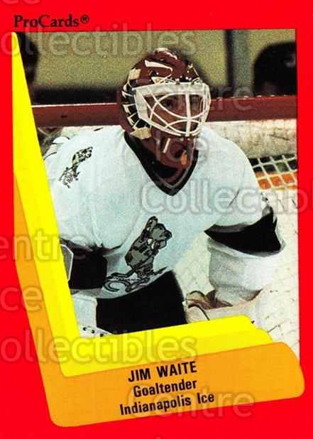 1990-91 ProCards AHL IHL #401 Jimmy Waite<br/>2 In Stock - $2.00 each - <a href=https://centericecollectibles.foxycart.com/cart?name=1990-91%20ProCards%20AHL%20IHL%20%23401%20Jimmy%20Waite...&quantity_max=2&price=$2.00&code=170688 class=foxycart> Buy it now! </a>