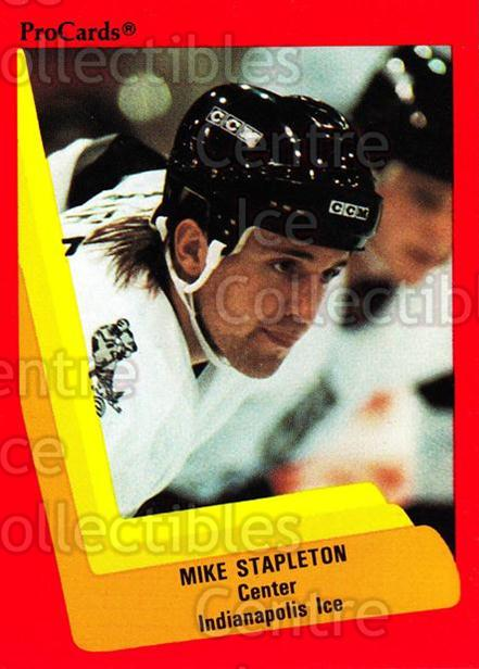 1990-91 ProCards AHL IHL #402 Mike Stapleton<br/>13 In Stock - $2.00 each - <a href=https://centericecollectibles.foxycart.com/cart?name=1990-91%20ProCards%20AHL%20IHL%20%23402%20Mike%20Stapleton...&quantity_max=13&price=$2.00&code=170689 class=foxycart> Buy it now! </a>