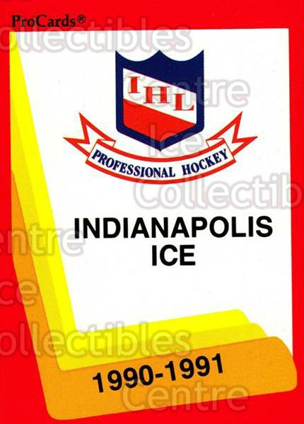 1990-91 ProCards AHL IHL #414 Indianapolis Ice, Checklist<br/>14 In Stock - $2.00 each - <a href=https://centericecollectibles.foxycart.com/cart?name=1990-91%20ProCards%20AHL%20IHL%20%23414%20Indianapolis%20Ic...&quantity_max=14&price=$2.00&code=170701 class=foxycart> Buy it now! </a>