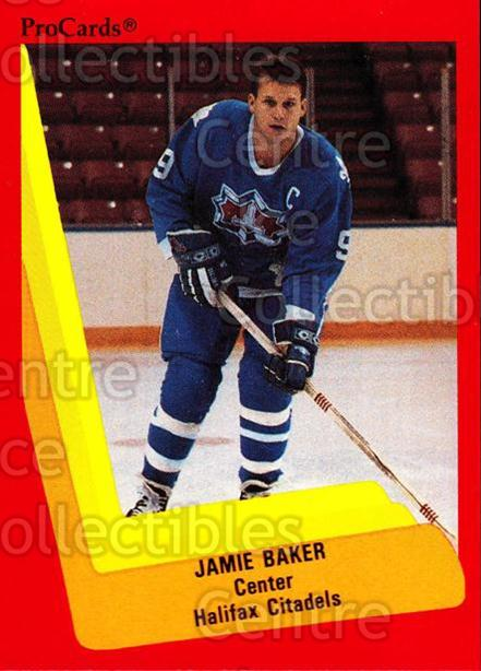 1990-91 ProCards AHL IHL #449 Jamie Baker<br/>22 In Stock - $2.00 each - <a href=https://centericecollectibles.foxycart.com/cart?name=1990-91%20ProCards%20AHL%20IHL%20%23449%20Jamie%20Baker...&quantity_max=22&price=$2.00&code=170739 class=foxycart> Buy it now! </a>