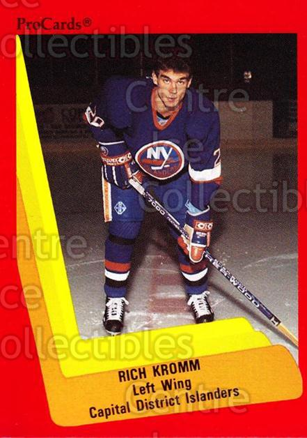 1990-91 ProCards AHL IHL #498 Richard Kromm<br/>21 In Stock - $2.00 each - <a href=https://centericecollectibles.foxycart.com/cart?name=1990-91%20ProCards%20AHL%20IHL%20%23498%20Richard%20Kromm...&price=$2.00&code=170790 class=foxycart> Buy it now! </a>