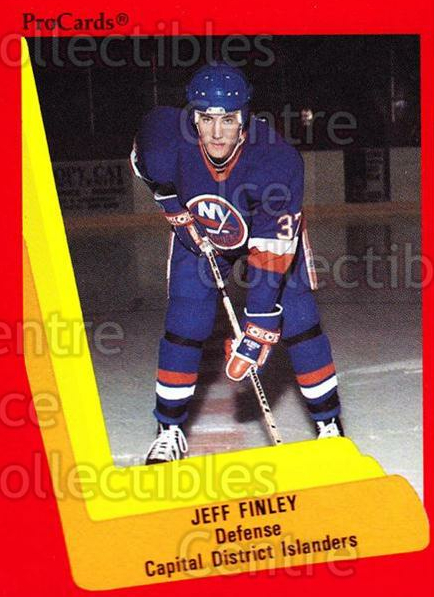 1990-91 ProCards AHL IHL #503 Jeff Finley<br/>16 In Stock - $2.00 each - <a href=https://centericecollectibles.foxycart.com/cart?name=1990-91%20ProCards%20AHL%20IHL%20%23503%20Jeff%20Finley...&price=$2.00&code=170797 class=foxycart> Buy it now! </a>