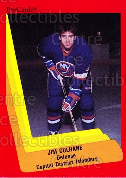 1990-91 ProCards AHL IHL #504 Jim Culhane<br/>23 In Stock - $2.00 each - <a href=https://centericecollectibles.foxycart.com/cart?name=1990-91%20ProCards%20AHL%20IHL%20%23504%20Jim%20Culhane...&price=$2.00&code=170798 class=foxycart> Buy it now! </a>