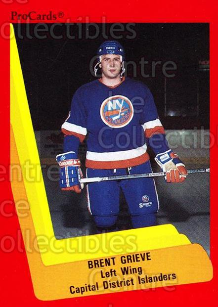 1990-91 ProCards AHL IHL #506 Brent Grieve<br/>24 In Stock - $2.00 each - <a href=https://centericecollectibles.foxycart.com/cart?name=1990-91%20ProCards%20AHL%20IHL%20%23506%20Brent%20Grieve...&price=$2.00&code=170800 class=foxycart> Buy it now! </a>