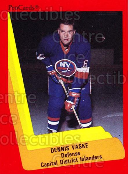 1990-91 ProCards AHL IHL #508 Dennis Vaske<br/>24 In Stock - $2.00 each - <a href=https://centericecollectibles.foxycart.com/cart?name=1990-91%20ProCards%20AHL%20IHL%20%23508%20Dennis%20Vaske...&price=$2.00&code=170802 class=foxycart> Buy it now! </a>
