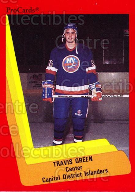 1990-91 ProCards AHL IHL #510 Travis Green<br/>23 In Stock - $2.00 each - <a href=https://centericecollectibles.foxycart.com/cart?name=1990-91%20ProCards%20AHL%20IHL%20%23510%20Travis%20Green...&price=$2.00&code=170805 class=foxycart> Buy it now! </a>