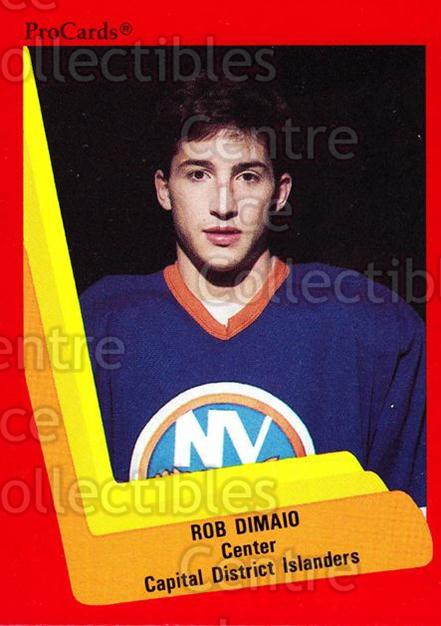 1990-91 ProCards AHL IHL #512 Rob DiMaio<br/>23 In Stock - $2.00 each - <a href=https://centericecollectibles.foxycart.com/cart?name=1990-91%20ProCards%20AHL%20IHL%20%23512%20Rob%20DiMaio...&price=$2.00&code=170807 class=foxycart> Buy it now! </a>
