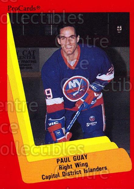 1990-91 ProCards AHL IHL #513 Paul Guay<br/>22 In Stock - $2.00 each - <a href=https://centericecollectibles.foxycart.com/cart?name=1990-91%20ProCards%20AHL%20IHL%20%23513%20Paul%20Guay...&price=$2.00&code=170808 class=foxycart> Buy it now! </a>