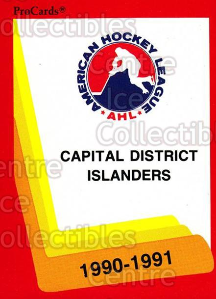 1990-91 ProCards AHL IHL #514 CapitalDistrict Islanders, Checklist<br/>22 In Stock - $2.00 each - <a href=https://centericecollectibles.foxycart.com/cart?name=1990-91%20ProCards%20AHL%20IHL%20%23514%20CapitalDistrict...&price=$2.00&code=170809 class=foxycart> Buy it now! </a>
