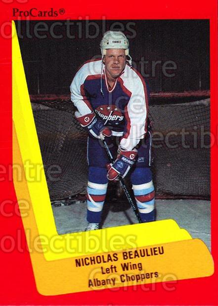 1990-91 ProCards AHL IHL #521 Nick Beaulieu<br/>24 In Stock - $2.00 each - <a href=https://centericecollectibles.foxycart.com/cart?name=1990-91%20ProCards%20AHL%20IHL%20%23521%20Nick%20Beaulieu...&quantity_max=24&price=$2.00&code=170817 class=foxycart> Buy it now! </a>
