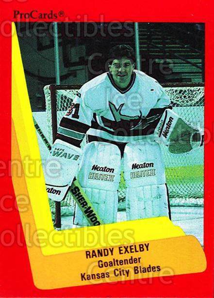 1990-91 ProCards AHL IHL #589 Randy Exelby<br/>13 In Stock - $2.00 each - <a href=https://centericecollectibles.foxycart.com/cart?name=1990-91%20ProCards%20AHL%20IHL%20%23589%20Randy%20Exelby...&quantity_max=13&price=$2.00&code=170890 class=foxycart> Buy it now! </a>