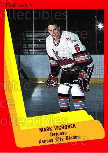 1990-91 ProCards AHL IHL #590 Mark Vichorek<br/>17 In Stock - $2.00 each - <a href=https://centericecollectibles.foxycart.com/cart?name=1990-91%20ProCards%20AHL%20IHL%20%23590%20Mark%20Vichorek...&quantity_max=17&price=$2.00&code=170892 class=foxycart> Buy it now! </a>