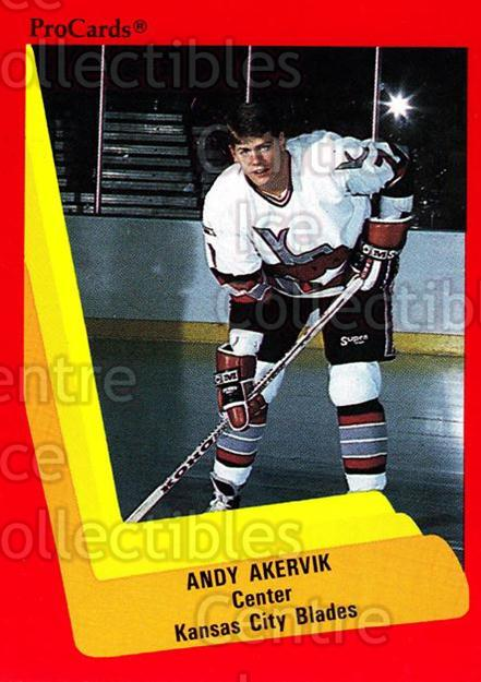 1990-91 ProCards AHL IHL #593 Andy Akervik<br/>23 In Stock - $2.00 each - <a href=https://centericecollectibles.foxycart.com/cart?name=1990-91%20ProCards%20AHL%20IHL%20%23593%20Andy%20Akervik...&quantity_max=23&price=$2.00&code=170895 class=foxycart> Buy it now! </a>