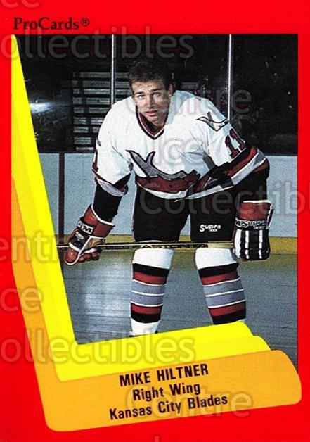 1990-91 ProCards AHL IHL #594 Mike Hiltner<br/>25 In Stock - $2.00 each - <a href=https://centericecollectibles.foxycart.com/cart?name=1990-91%20ProCards%20AHL%20IHL%20%23594%20Mike%20Hiltner...&quantity_max=25&price=$2.00&code=170896 class=foxycart> Buy it now! </a>
