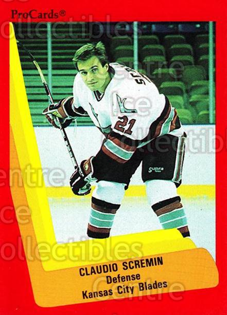1990-91 ProCards AHL IHL #597 Claudio Scremin<br/>15 In Stock - $2.00 each - <a href=https://centericecollectibles.foxycart.com/cart?name=1990-91%20ProCards%20AHL%20IHL%20%23597%20Claudio%20Scremin...&quantity_max=15&price=$2.00&code=170899 class=foxycart> Buy it now! </a>