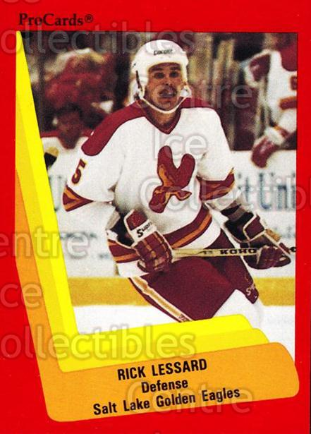 1990-91 ProCards AHL IHL #605 Rick Lessard<br/>23 In Stock - $2.00 each - <a href=https://centericecollectibles.foxycart.com/cart?name=1990-91%20ProCards%20AHL%20IHL%20%23605%20Rick%20Lessard...&quantity_max=23&price=$2.00&code=170907 class=foxycart> Buy it now! </a>