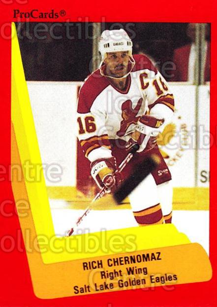 1990-91 ProCards AHL IHL #607 Rich Chernomaz<br/>4 In Stock - $2.00 each - <a href=https://centericecollectibles.foxycart.com/cart?name=1990-91%20ProCards%20AHL%20IHL%20%23607%20Rich%20Chernomaz...&quantity_max=4&price=$2.00&code=170909 class=foxycart> Buy it now! </a>
