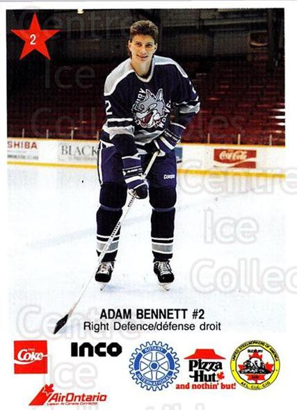 1990-91 Sudbury Wolves Police #2 Adam Bennett<br/>2 In Stock - $3.00 each - <a href=https://centericecollectibles.foxycart.com/cart?name=1990-91%20Sudbury%20Wolves%20Police%20%232%20Adam%20Bennett...&quantity_max=2&price=$3.00&code=17128 class=foxycart> Buy it now! </a>