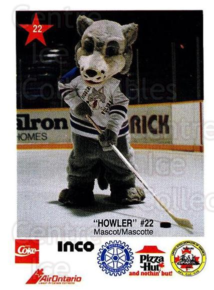 1990-91 Sudbury Wolves Police #22 Mascot<br/>3 In Stock - $3.00 each - <a href=https://centericecollectibles.foxycart.com/cart?name=1990-91%20Sudbury%20Wolves%20Police%20%2322%20Mascot...&quantity_max=3&price=$3.00&code=17130 class=foxycart> Buy it now! </a>