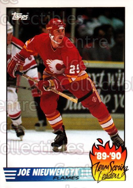 1990-91 Topps Tiffany Team Scoring Leaders #8 Joe Nieuwendyk<br/>8 In Stock - $2.00 each - <a href=https://centericecollectibles.foxycart.com/cart?name=1990-91%20Topps%20Tiffany%20Team%20Scoring%20Leaders%20%238%20Joe%20Nieuwendyk...&quantity_max=8&price=$2.00&code=17155 class=foxycart> Buy it now! </a>
