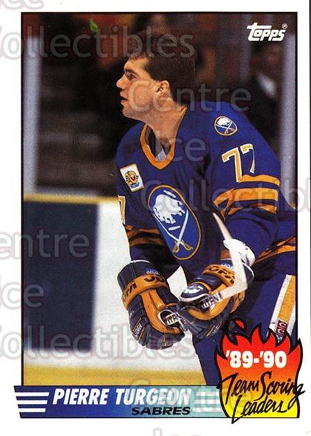 1990-91 Topps Team Scoring Leaders #20 Pierre Turgeon<br/>10 In Stock - $1.00 each - <a href=https://centericecollectibles.foxycart.com/cart?name=1990-91%20Topps%20Team%20Scoring%20Leaders%20%2320%20Pierre%20Turgeon...&quantity_max=10&price=$1.00&code=17164 class=foxycart> Buy it now! </a>