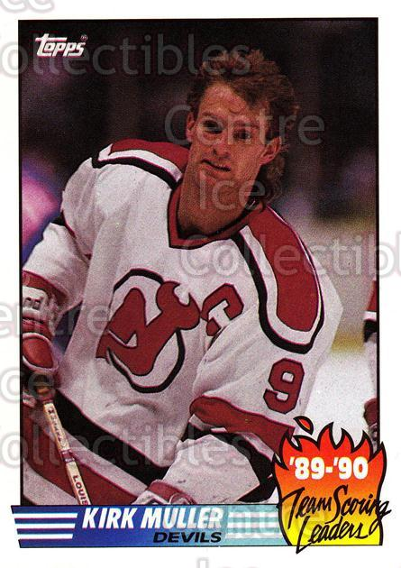1990-91 Topps Team Scoring Leaders #7 Kirk Muller<br/>10 In Stock - $1.00 each - <a href=https://centericecollectibles.foxycart.com/cart?name=1990-91%20Topps%20Team%20Scoring%20Leaders%20%237%20Kirk%20Muller...&quantity_max=10&price=$1.00&code=17170 class=foxycart> Buy it now! </a>