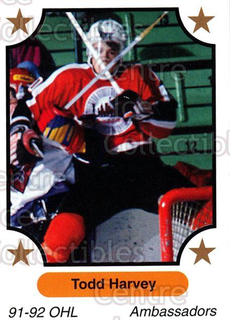 1991-92 7th Inning Sketch OHL #33 Todd Harvey<br/>3 In Stock - $1.00 each - <a href=https://centericecollectibles.foxycart.com/cart?name=1991-92%207th%20Inning%20Sketch%20OHL%20%2333%20Todd%20Harvey...&quantity_max=3&price=$1.00&code=171849 class=foxycart> Buy it now! </a>