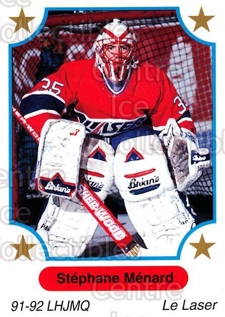 1991-92 7th Inning Sketch QMJHL #5 Stephane Menard<br/>6 In Stock - $1.00 each - <a href=https://centericecollectibles.foxycart.com/cart?name=1991-92%207th%20Inning%20Sketch%20QMJHL%20%235%20Stephane%20Menard...&price=$1.00&code=172067 class=foxycart> Buy it now! </a>