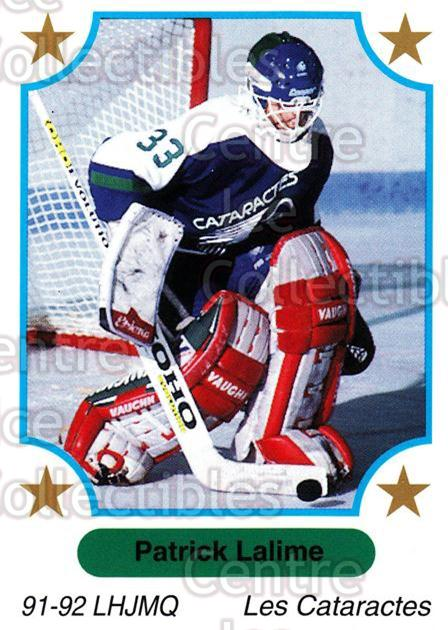 1991-92 7th Inning Sketch QMJHL #71 Patrick Lalime<br/>2 In Stock - $1.00 each - <a href=https://centericecollectibles.foxycart.com/cart?name=1991-92%207th%20Inning%20Sketch%20QMJHL%20%2371%20Patrick%20Lalime...&quantity_max=2&price=$1.00&code=172090 class=foxycart> Buy it now! </a>