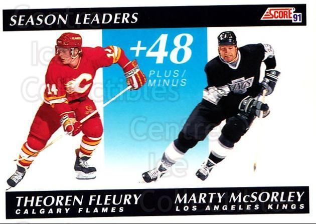 1991-92 Score Canadian English #297 Theo Fleury, Marty McSorley<br/>1 In Stock - $1.00 each - <a href=https://centericecollectibles.foxycart.com/cart?name=1991-92%20Score%20Canadian%20English%20%23297%20Theo%20Fleury,%20Ma...&quantity_max=1&price=$1.00&code=173926 class=foxycart> Buy it now! </a>