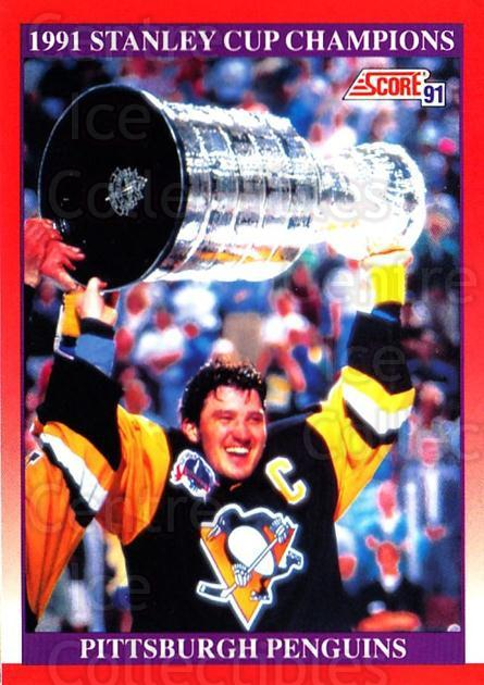 1991-92 Score Canadian English #315 Mario Lemieux, Stanley Cup<br/>1 In Stock - $2.00 each - <a href=https://centericecollectibles.foxycart.com/cart?name=1991-92%20Score%20Canadian%20English%20%23315%20Mario%20Lemieux,%20...&price=$2.00&code=173947 class=foxycart> Buy it now! </a>