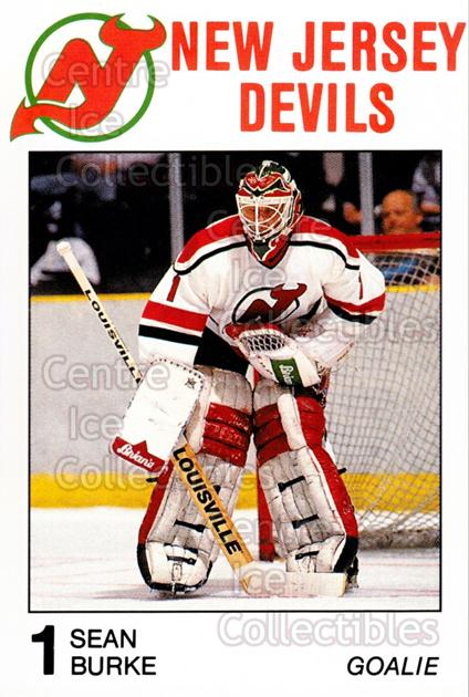 1988-89 New Jersey Devils Caretta #5 Sean Burke<br/>1 In Stock - $3.00 each - <a href=https://centericecollectibles.foxycart.com/cart?name=1988-89%20New%20Jersey%20Devils%20Caretta%20%235%20Sean%20Burke...&quantity_max=1&price=$3.00&code=173 class=foxycart> Buy it now! </a>