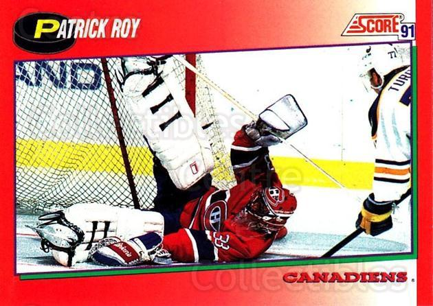 1991-92 Score Canadian English #75 Patrick Roy<br/>1 In Stock - $2.00 each - <a href=https://centericecollectibles.foxycart.com/cart?name=1991-92%20Score%20Canadian%20English%20%2375%20Patrick%20Roy...&quantity_max=1&price=$2.00&code=174300 class=foxycart> Buy it now! </a>
