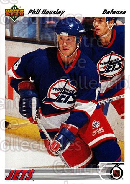 1991-92 Upper Deck #106 Phil Housley<br/>7 In Stock - $1.00 each - <a href=https://centericecollectibles.foxycart.com/cart?name=1991-92%20Upper%20Deck%20%23106%20Phil%20Housley...&quantity_max=7&price=$1.00&code=174599 class=foxycart> Buy it now! </a>