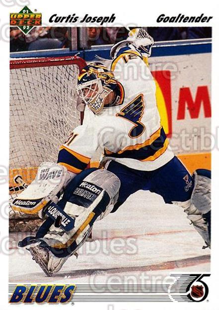 1991-92 Upper Deck #139 Curtis Joseph<br/>6 In Stock - $1.00 each - <a href=https://centericecollectibles.foxycart.com/cart?name=1991-92%20Upper%20Deck%20%23139%20Curtis%20Joseph...&quantity_max=6&price=$1.00&code=174631 class=foxycart> Buy it now! </a>