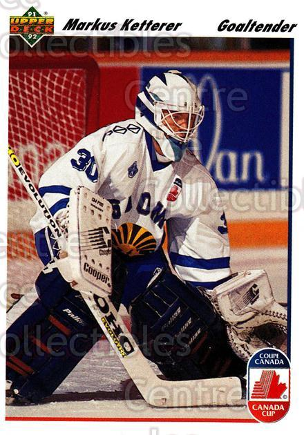 1991-92 Upper Deck #23 Markus Ketterer<br/>7 In Stock - $1.00 each - <a href=https://centericecollectibles.foxycart.com/cart?name=1991-92%20Upper%20Deck%20%2323%20Markus%20Ketterer...&price=$1.00&code=174718 class=foxycart> Buy it now! </a>