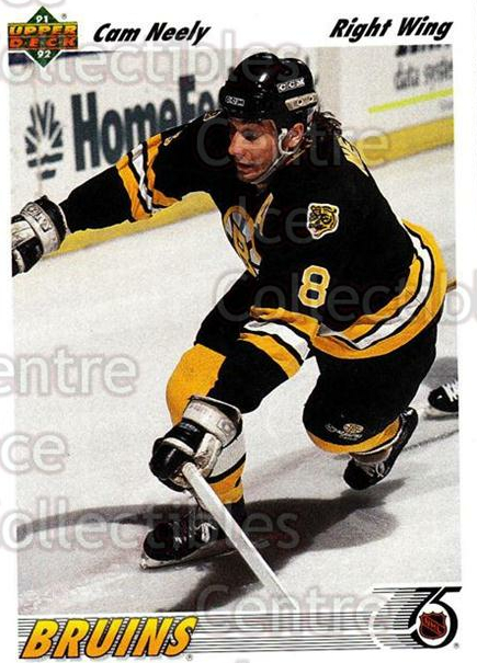 1991-92 Upper Deck #234 Cam Neely<br/>7 In Stock - $1.00 each - <a href=https://centericecollectibles.foxycart.com/cart?name=1991-92%20Upper%20Deck%20%23234%20Cam%20Neely...&quantity_max=7&price=$1.00&code=174723 class=foxycart> Buy it now! </a>