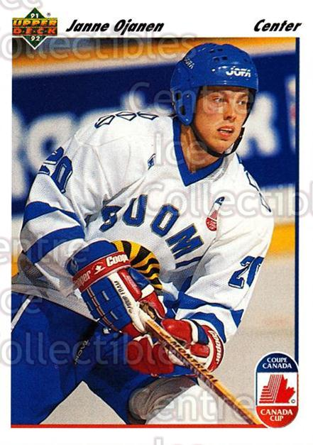 1991-92 Upper Deck #25 Janne Ojanen<br/>7 In Stock - $1.00 each - <a href=https://centericecollectibles.foxycart.com/cart?name=1991-92%20Upper%20Deck%20%2325%20Janne%20Ojanen...&quantity_max=7&price=$1.00&code=174739 class=foxycart> Buy it now! </a>