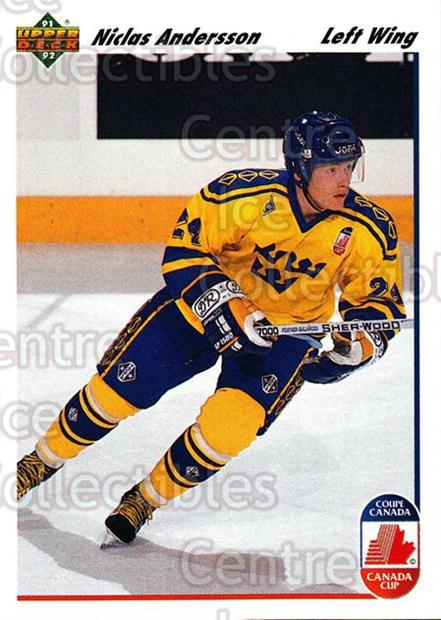 1991-92 Upper Deck #29 Niclas Andersson<br/>7 In Stock - $1.00 each - <a href=https://centericecollectibles.foxycart.com/cart?name=1991-92%20Upper%20Deck%20%2329%20Niclas%20Andersso...&price=$1.00&code=174781 class=foxycart> Buy it now! </a>