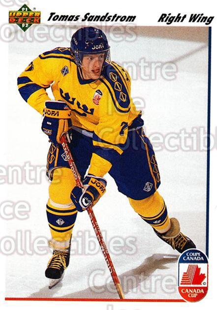 1991-92 Upper Deck #30 Tomas Sandstrom<br/>7 In Stock - $1.00 each - <a href=https://centericecollectibles.foxycart.com/cart?name=1991-92%20Upper%20Deck%20%2330%20Tomas%20Sandstrom...&price=$1.00&code=174792 class=foxycart> Buy it now! </a>