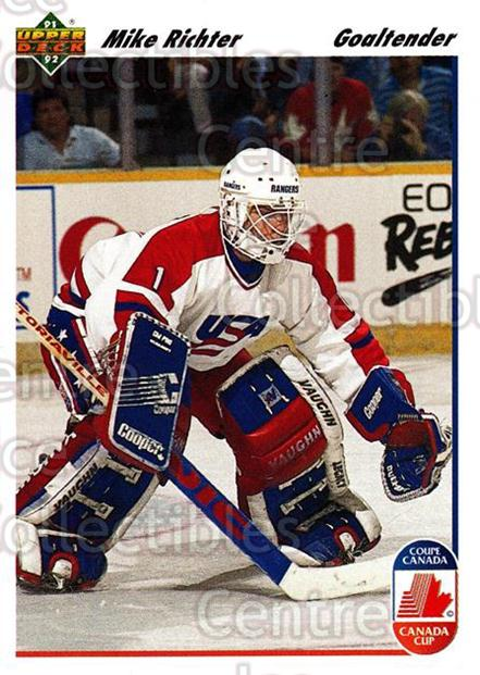 1991-92 Upper Deck #34 Mike Richter<br/>7 In Stock - $1.00 each - <a href=https://centericecollectibles.foxycart.com/cart?name=1991-92%20Upper%20Deck%20%2334%20Mike%20Richter...&quantity_max=7&price=$1.00&code=174826 class=foxycart> Buy it now! </a>