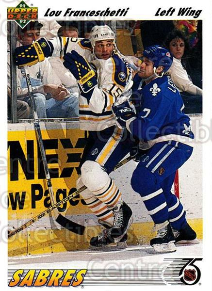 1991-92 Upper Deck #399 Lou Franceschetti<br/>6 In Stock - $1.00 each - <a href=https://centericecollectibles.foxycart.com/cart?name=1991-92%20Upper%20Deck%20%23399%20Lou%20Franceschet...&quantity_max=6&price=$1.00&code=174885 class=foxycart> Buy it now! </a>